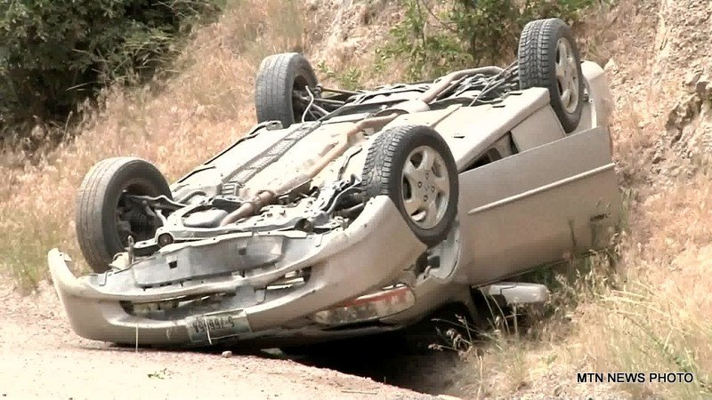 The Montana Highway Patrol is trying to find the occupants of a car that crashed and rolled southwest of Helena on Wednesday.