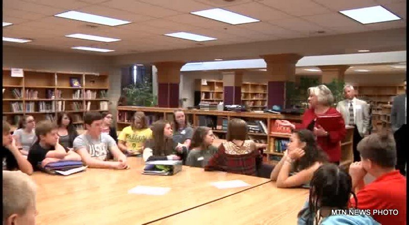 Secretary of state Linda McCulloch talked about the importance of educating students about the democratic process.