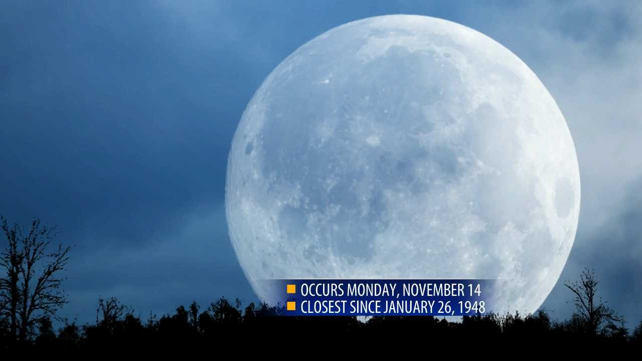 This year's supermoon extra super; closest in almost 69 years