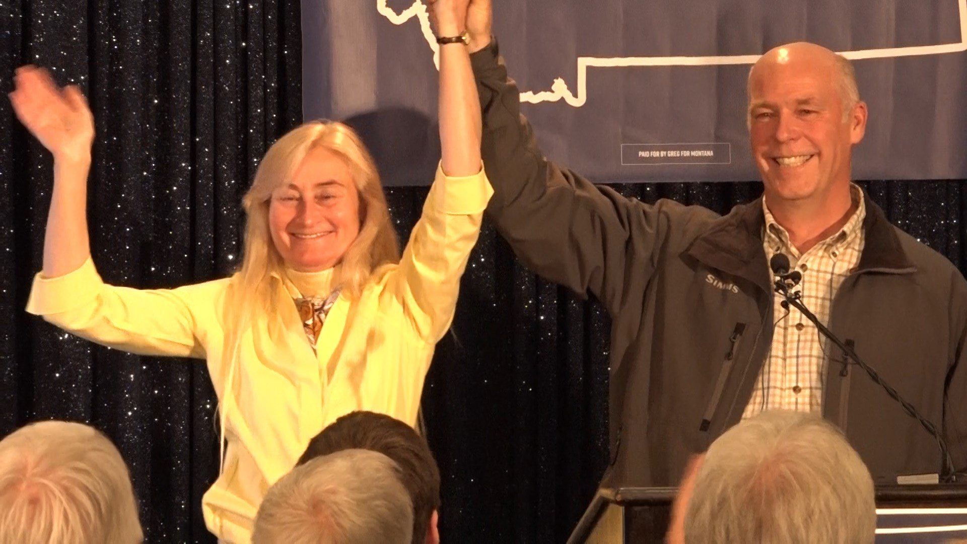 Greg Gianforte and his wife Susan on election night