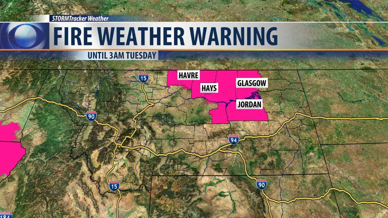 Fire Weather Warning in effect until 3am Tuesday