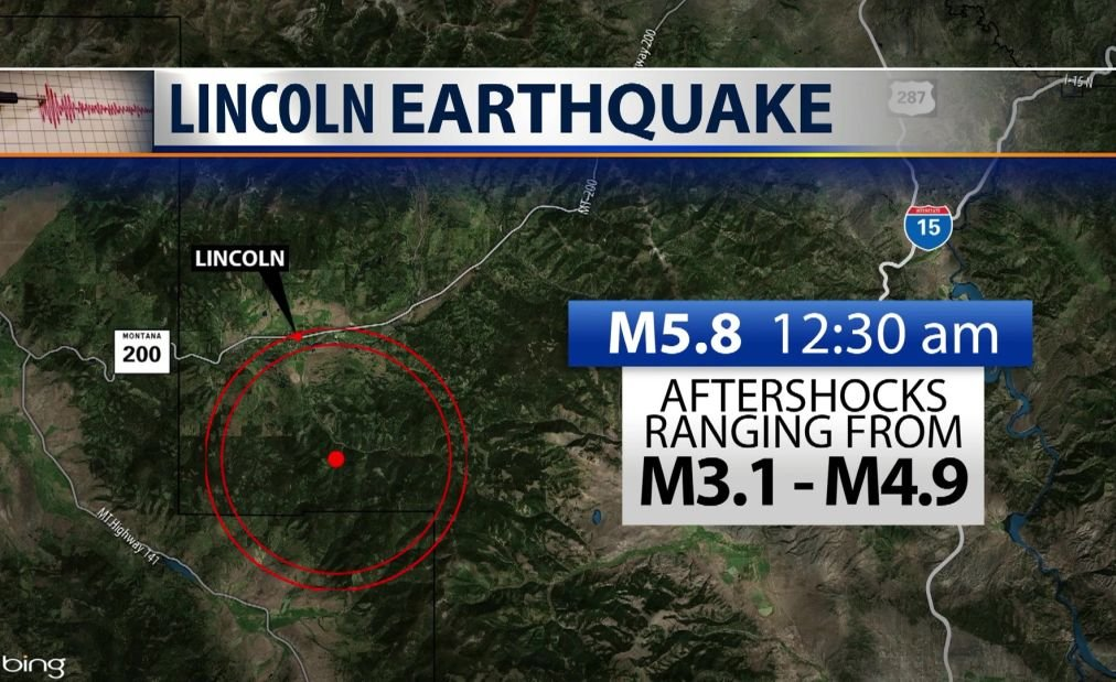 USGS says tremors followed Montana earthquake