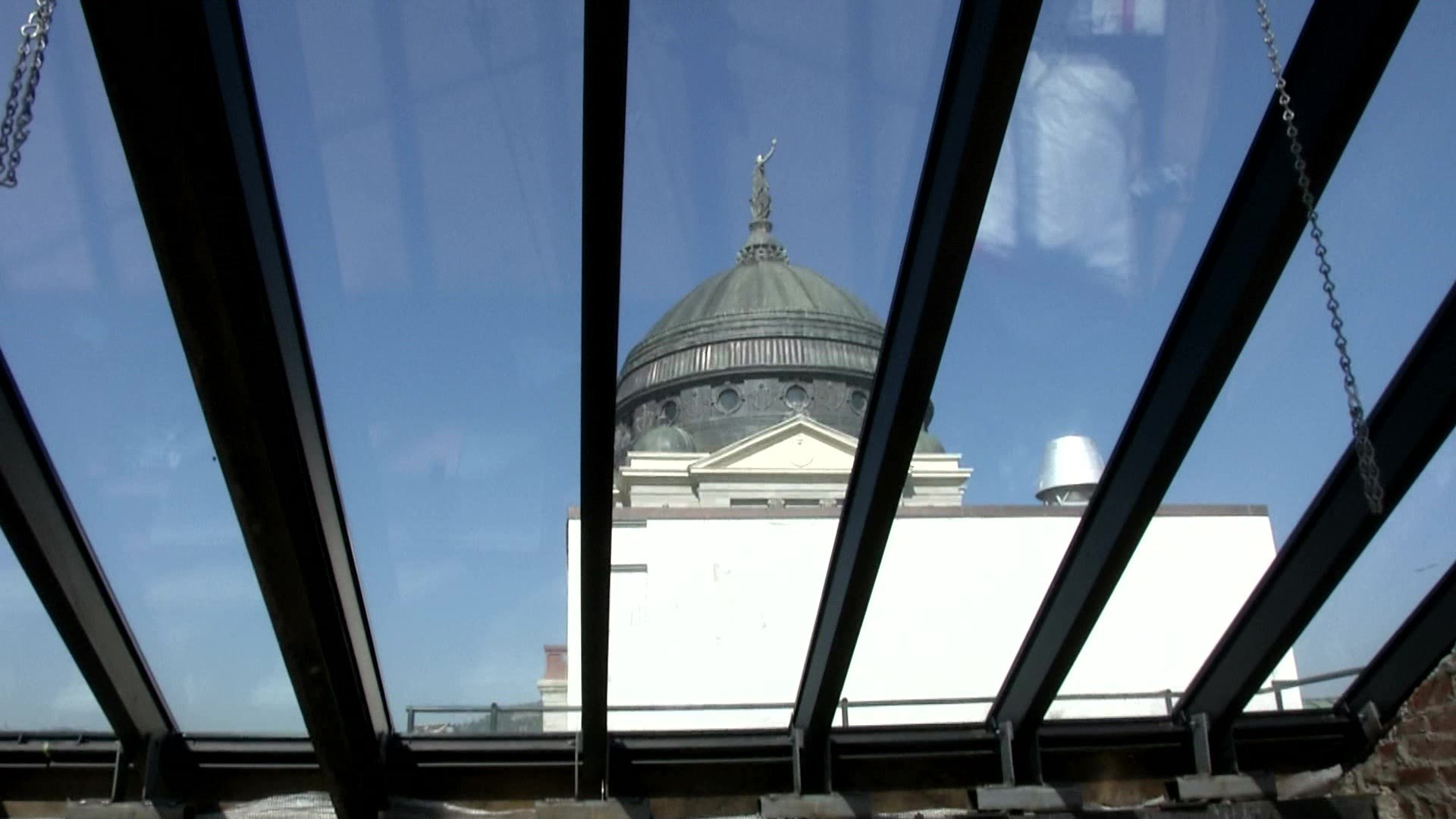 Skylights at Capitol are being replaced