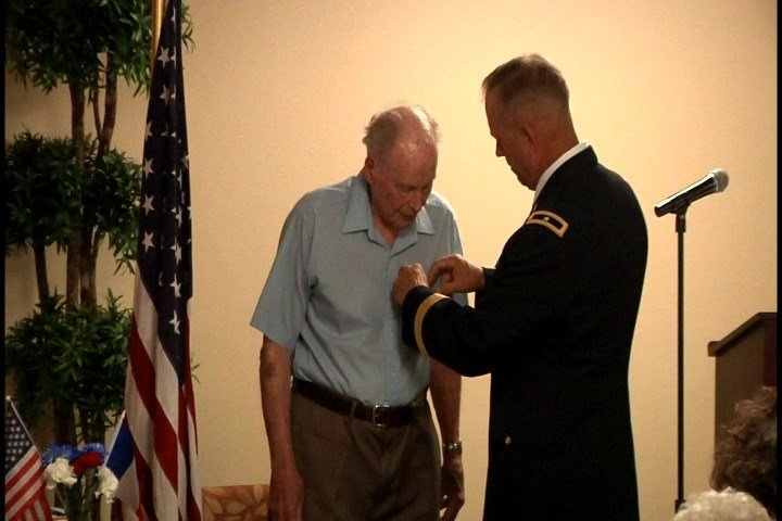 Ralph Arnold, received the French Foreign Legion of Honor award for his military service.