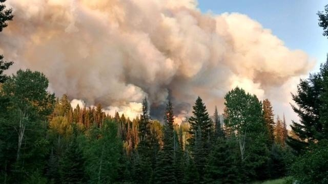 Arrastra Creek Fire has burned more than 2,000 acres. (Photo from Inciweb)