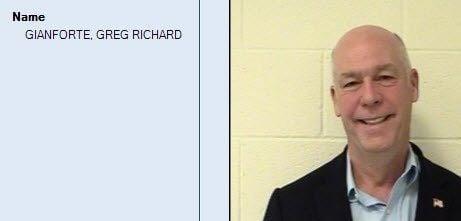 U.S. Representative Greg Gianforte's jail booking photo