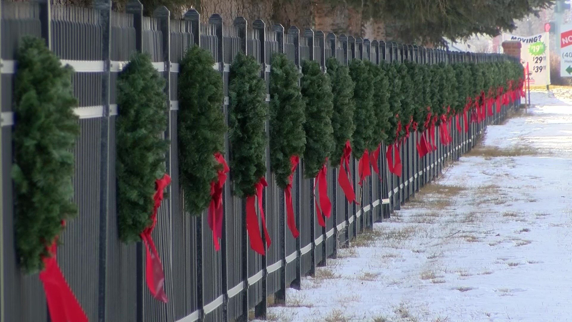 The wreaths were placed by The Montana Field of Honor and represent all Montana veterans