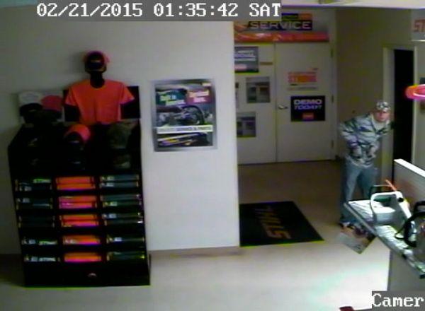 Burglary suspect, Power Pro Interstate Battery