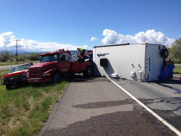 Crash disrupting traffic on I 15 near mile marker 195. (MTN News photo)