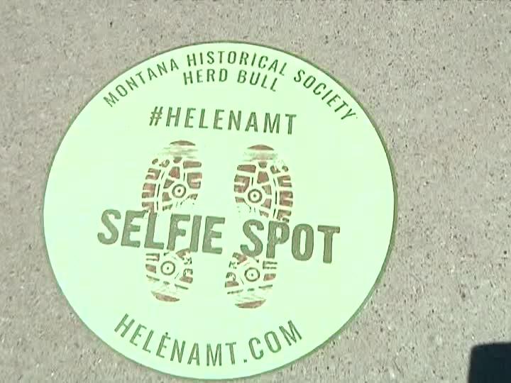 "Helena ""selfie spot"" indicator (MTN News photo)"