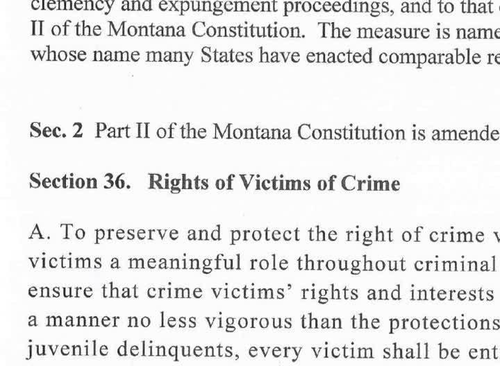 A group backing a measure called Marsy's Law has filed proposed ballot language with the Montana Secretary of State, starting the process to bring the measure to the 2016 ballot.