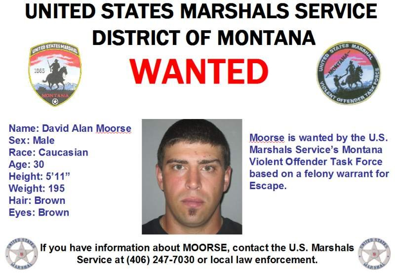 BOLO Alert - Wanted In Montana: David Alan Moorse