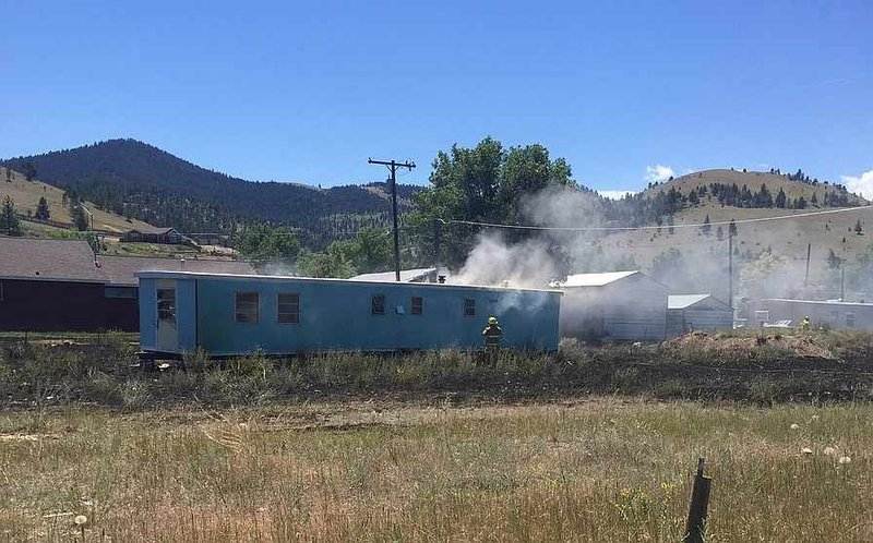 Crews tackle fire in helena continuous news for Helena motors helena montana