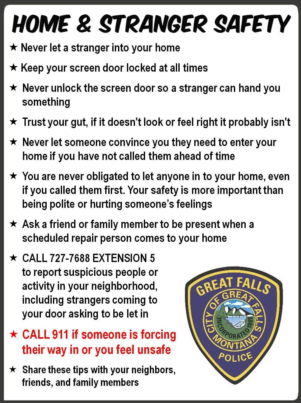 GFPD warns of thief posing as utility worker to gain access to h ...