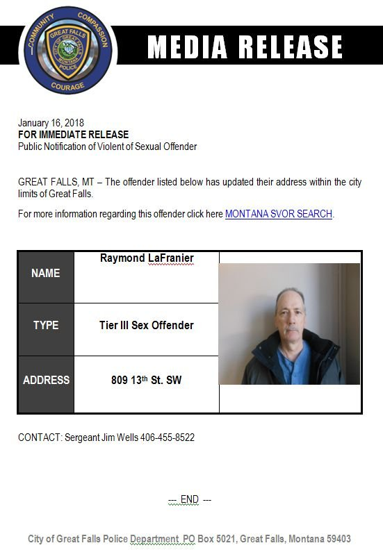 Montana sexual offender registry