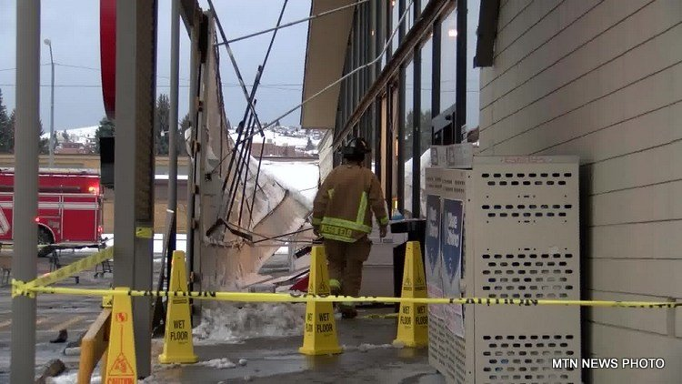 Awning collapses at butte grocery store q2 for Ebay motors warehouse in billings montana